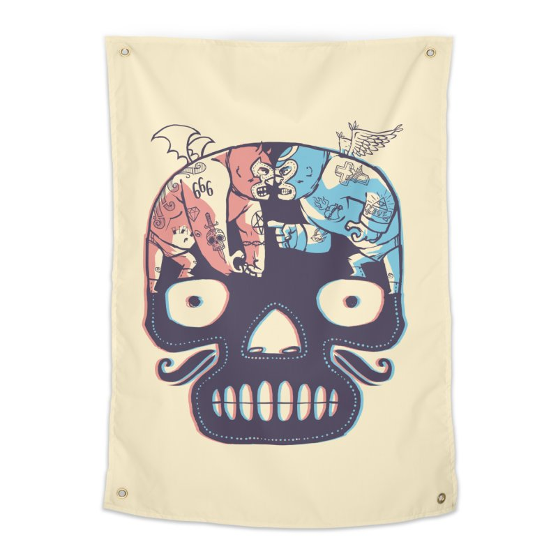 La eterna lucha Home Tapestry by spike00