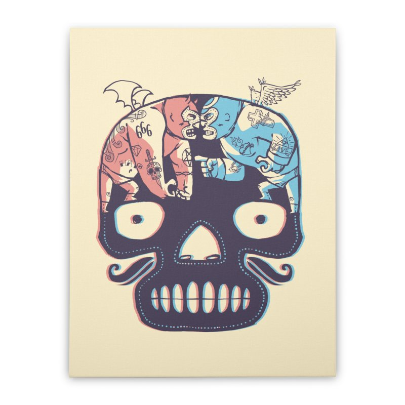 La eterna lucha Home Stretched Canvas by spike00