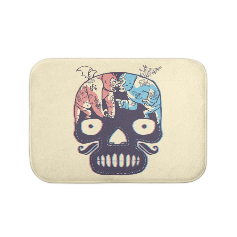 La eterna lucha Home Bath Mat by spike00