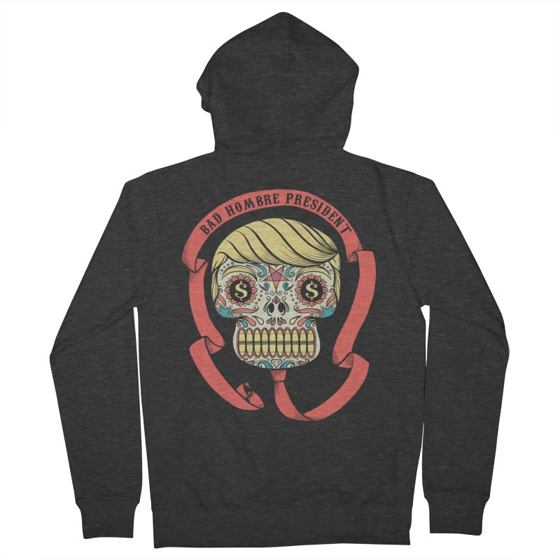 Bad Hombre President Men's Zip-Up Hoody by spike00