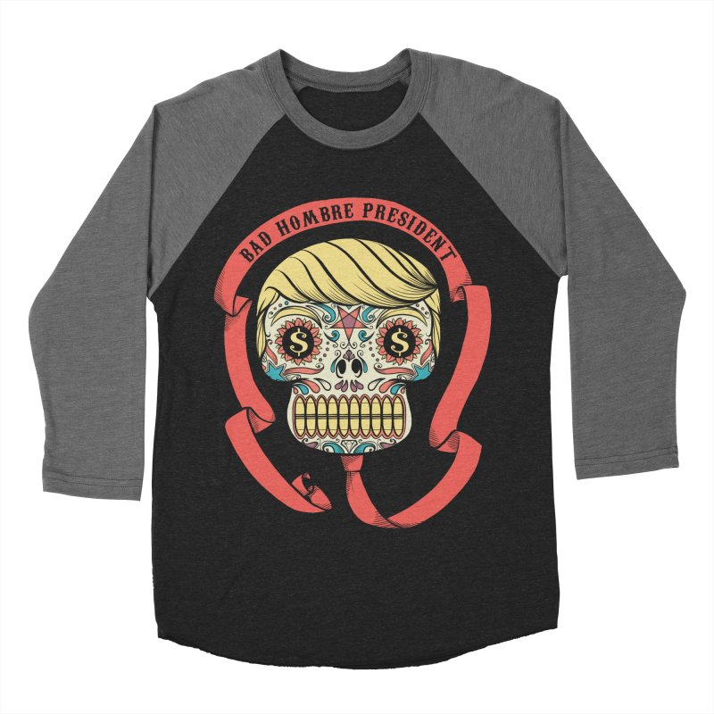 Bad Hombre President Women's Baseball Triblend Longsleeve T-Shirt by spike00