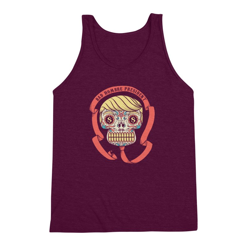 Bad Hombre President Men's Triblend Tank by spike00