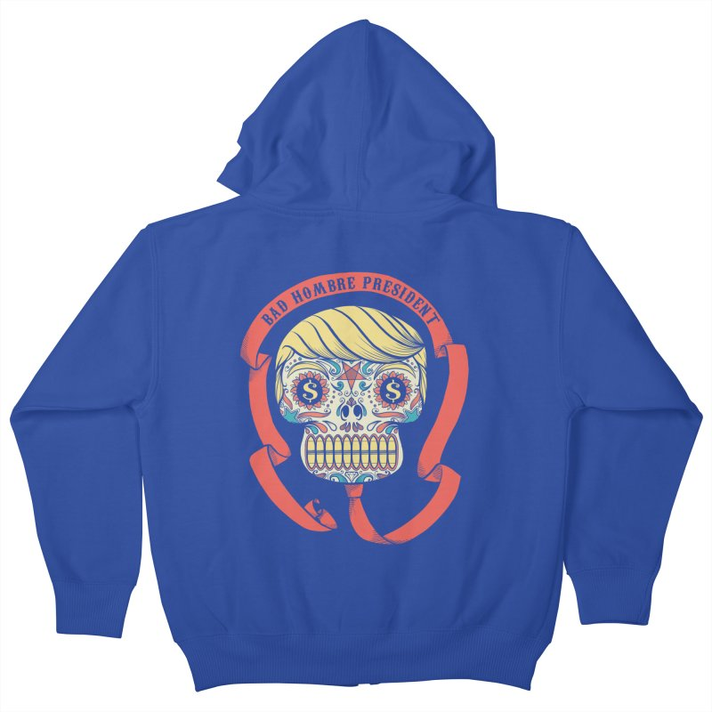 Bad Hombre President Kids Zip-Up Hoody by spike00