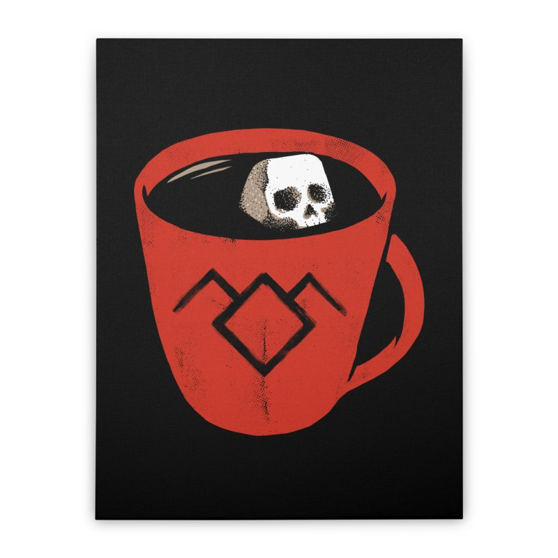 Black coffee Home Stretched Canvas by spike00