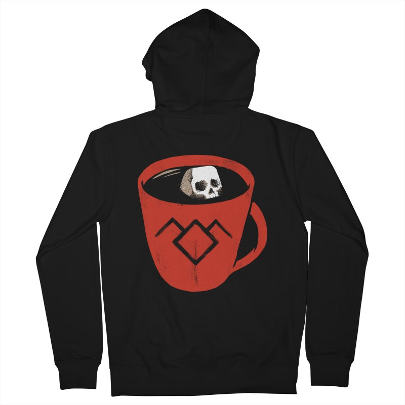 Black coffee Men's Zip-Up Hoody by spike00