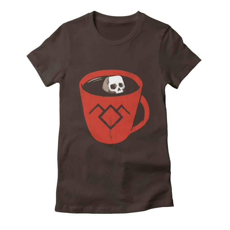 Black coffee Women's Fitted T-Shirt by spike00