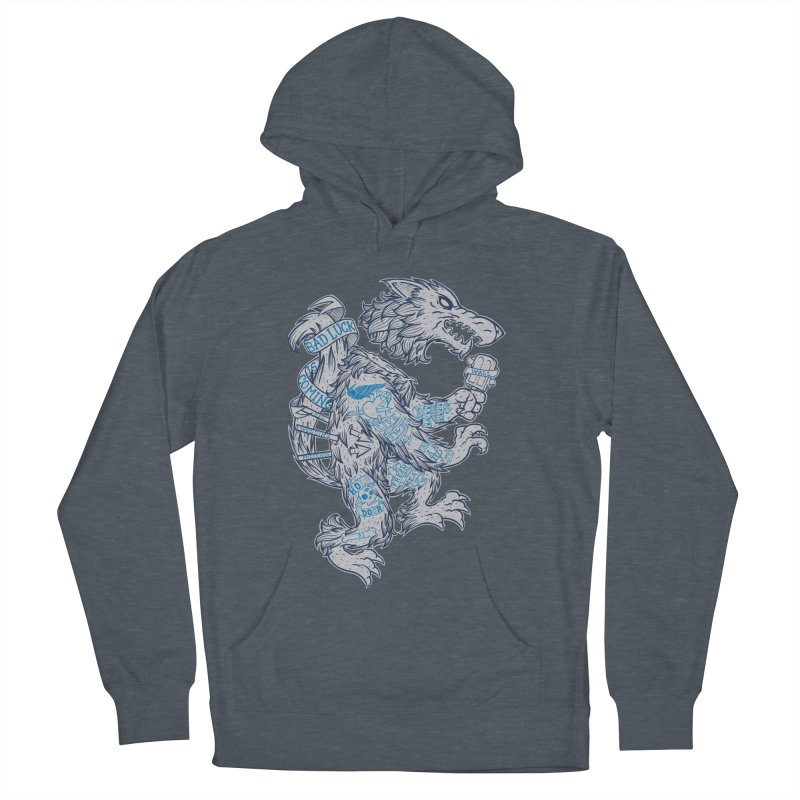 wolf spoiler crest Men's French Terry Pullover Hoody by spike00