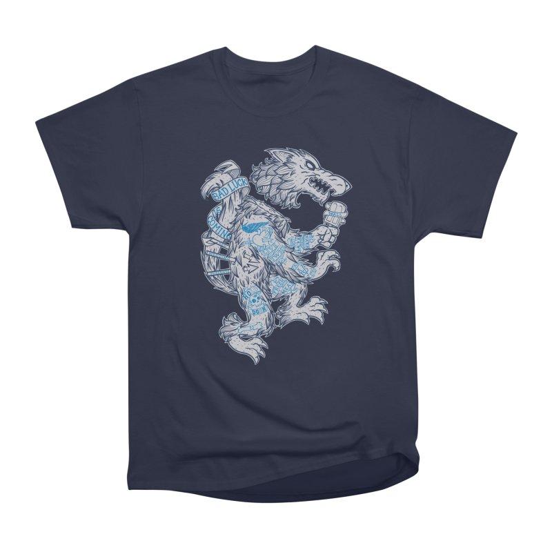 wolf spoiler crest Women's Heavyweight Unisex T-Shirt by spike00