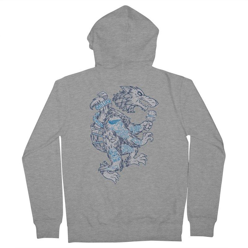 wolf spoiler crest Men's Zip-Up Hoody by spike00