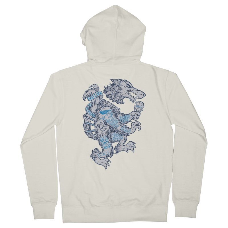 wolf spoiler crest Men's French Terry Zip-Up Hoody by spike00