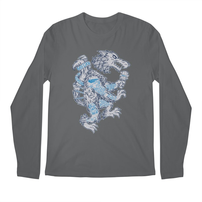 wolf spoiler crest Men's Regular Longsleeve T-Shirt by spike00