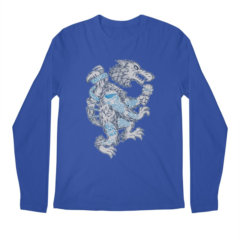 wolf spoiler crest Men's Regular Longsleeve T-Shirt by spike00