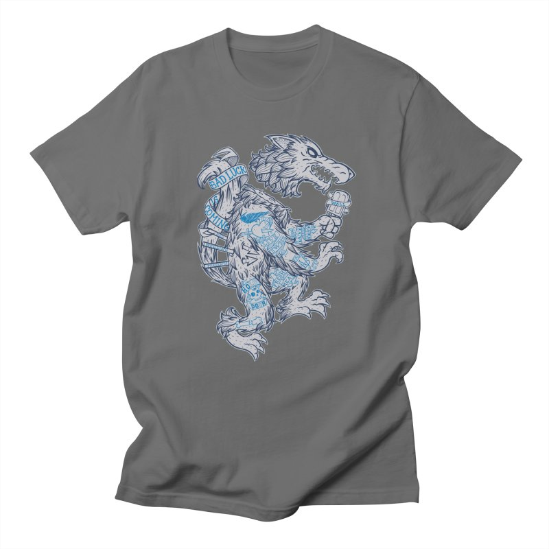 wolf spoiler crest Men's T-Shirt by spike00
