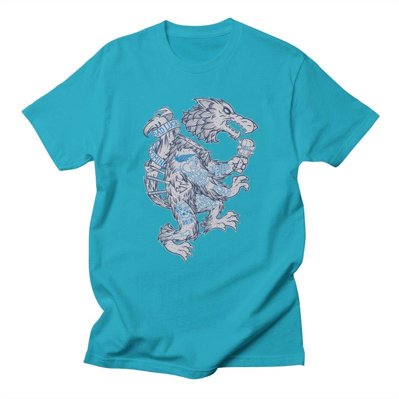 wolf spoiler crest Men's T-Shirt by spike00