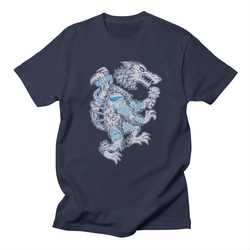 wolf spoiler crest Men's Regular T-Shirt by spike00