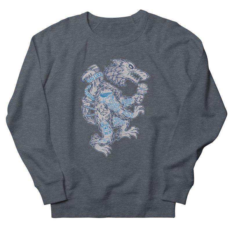 wolf spoiler crest Women's French Terry Sweatshirt by spike00