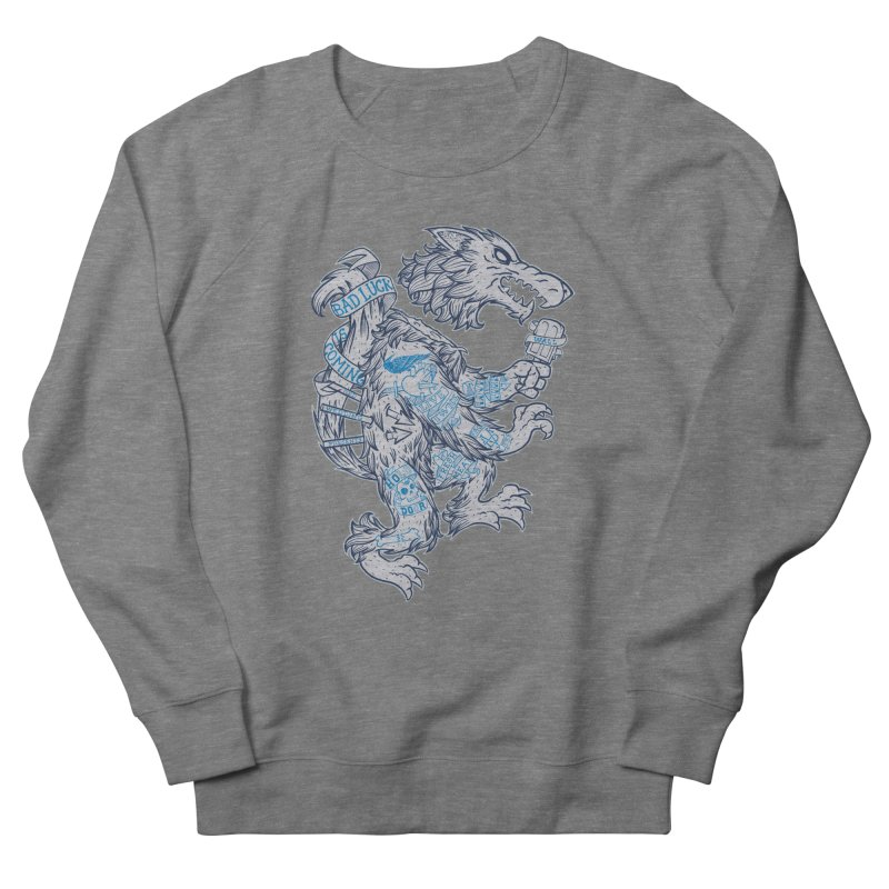 wolf spoiler crest Women's French Terry Sweatshirt by spike00