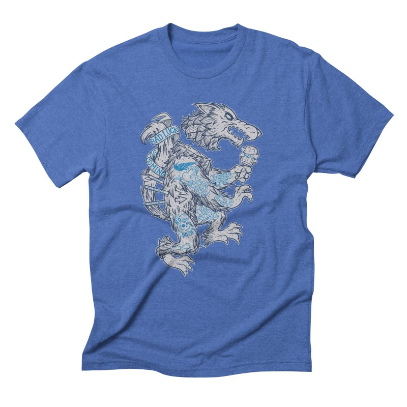 wolf spoiler crest Men's Triblend T-Shirt by spike00