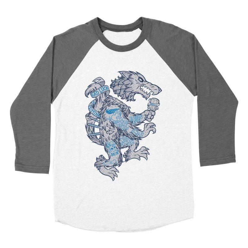 wolf spoiler crest Women's Baseball Triblend Longsleeve T-Shirt by spike00