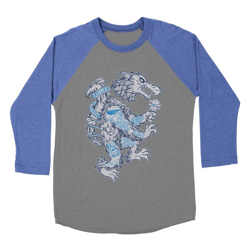wolf spoiler crest Men's Baseball Triblend Longsleeve T-Shirt by spike00