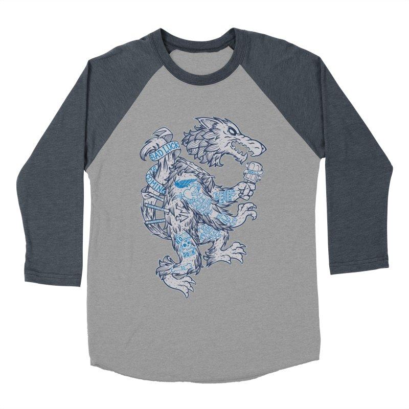 wolf spoiler crest Men's Baseball Triblend T-Shirt by spike00