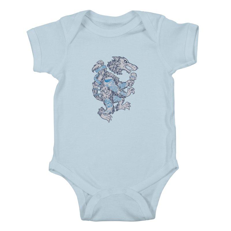 wolf spoiler crest Kids Baby Bodysuit by spike00