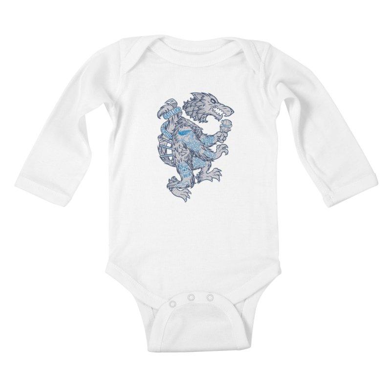 wolf spoiler crest Kids Baby Longsleeve Bodysuit by spike00