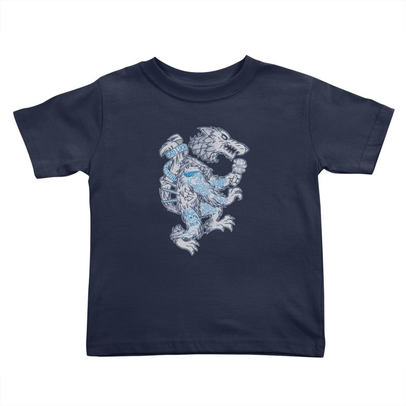 wolf spoiler crest Kids Toddler T-Shirt by spike00