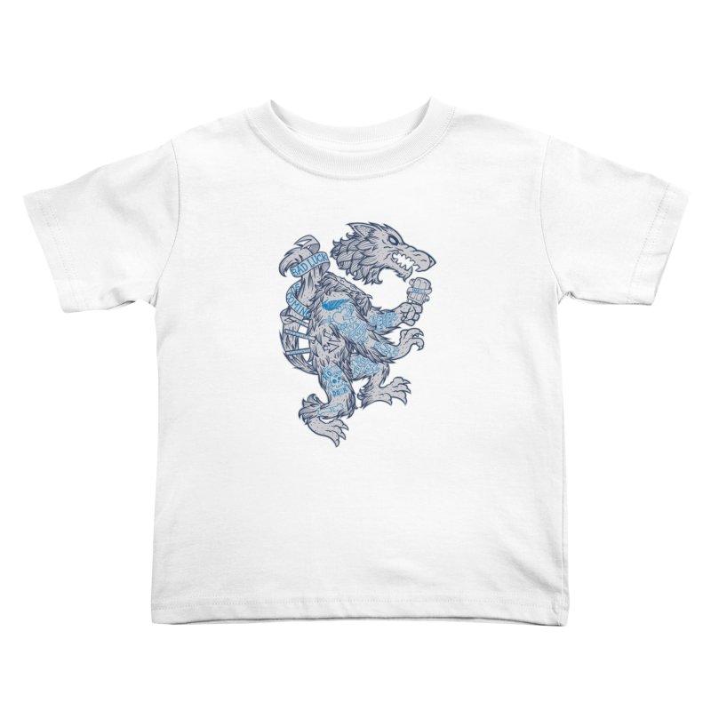 wolf spoiler crest Kids Toddler T-Shirt by spike00