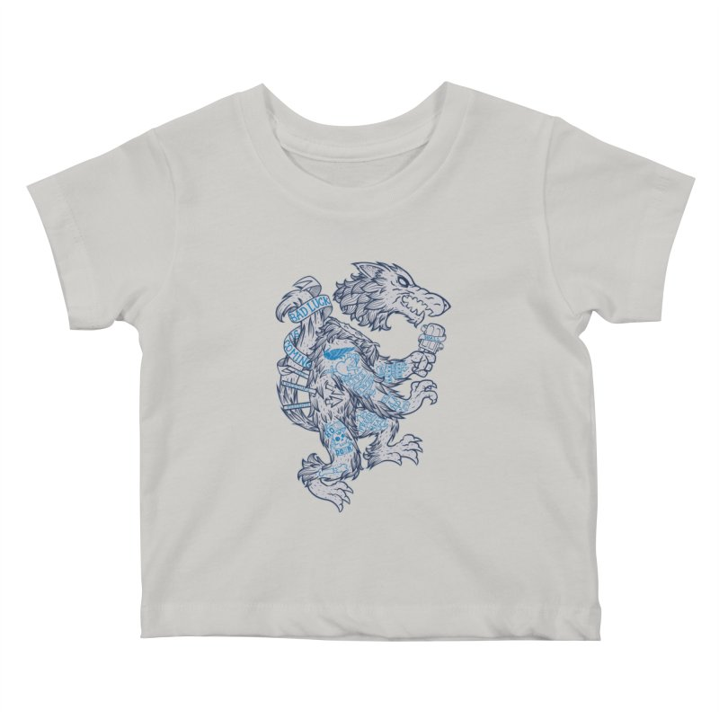 wolf spoiler crest Kids Baby T-Shirt by spike00