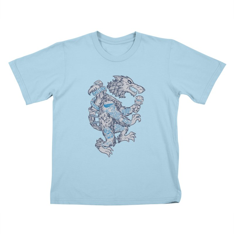 wolf spoiler crest Kids T-shirt by spike00