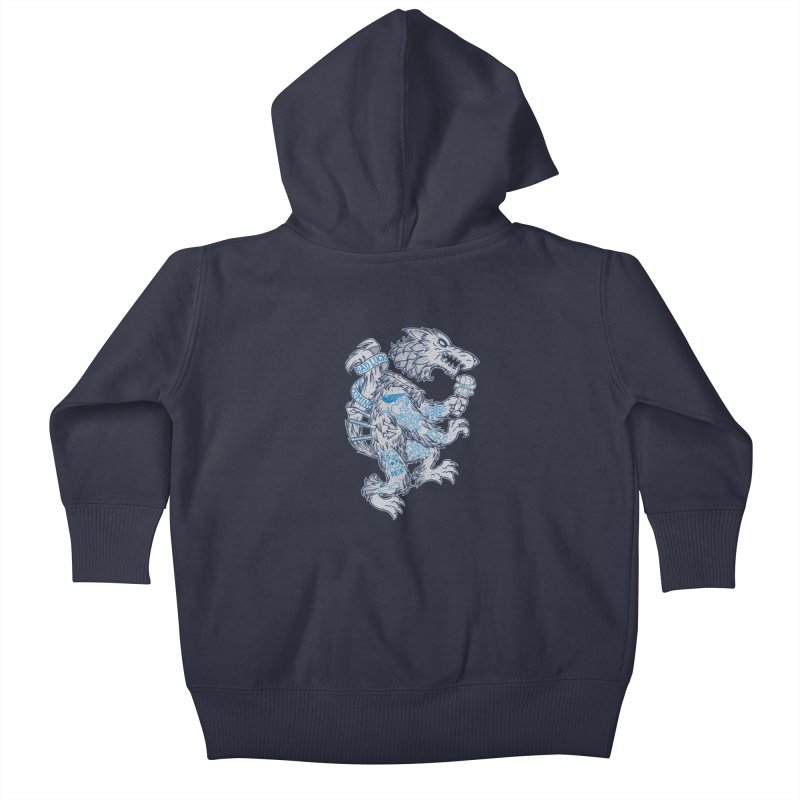 wolf spoiler crest Kids Baby Zip-Up Hoody by spike00