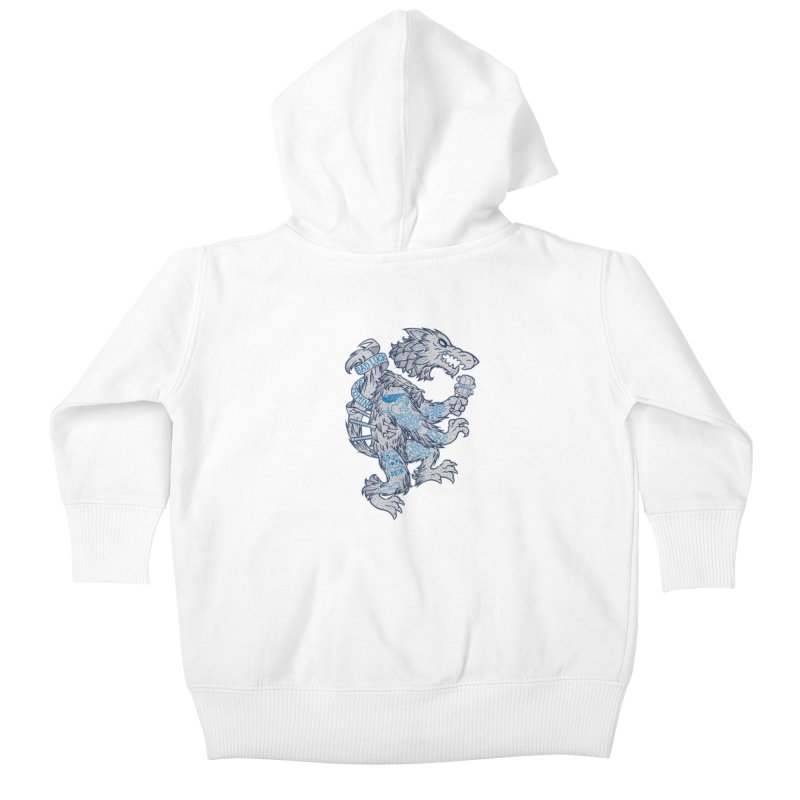 wolf spoiler crest Kids Baby Zip-Up Hoody by spike00