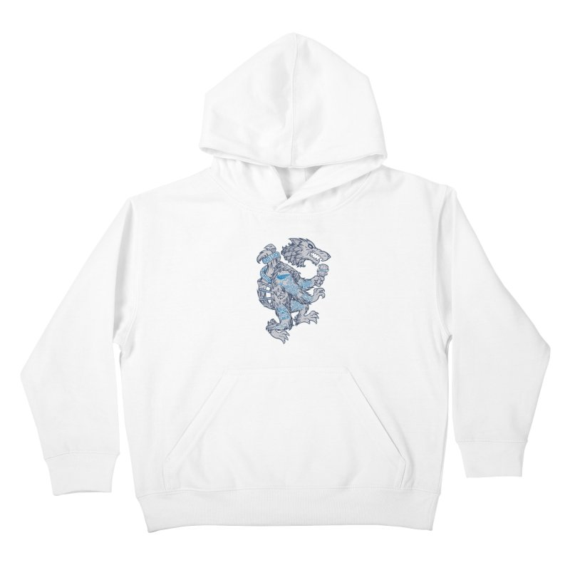 wolf spoiler crest Kids Pullover Hoody by spike00