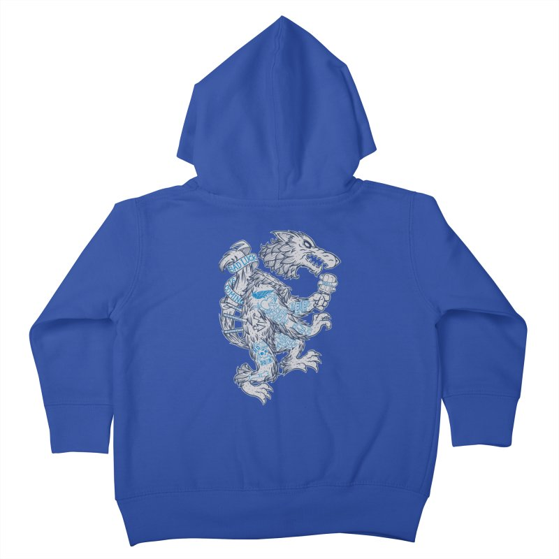 wolf spoiler crest Kids Toddler Zip-Up Hoody by spike00