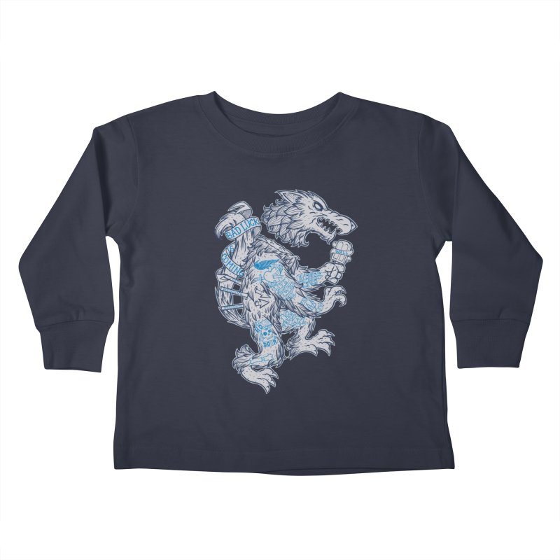 wolf spoiler crest Kids Toddler Longsleeve T-Shirt by spike00