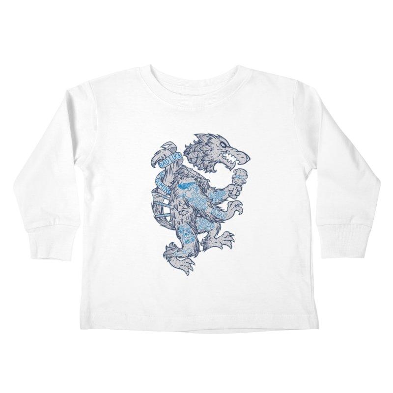 wolf spoiler crest Kids Toddler Longsleeve T-Shirt by spike00