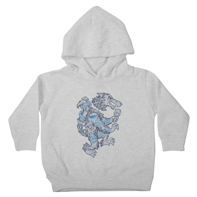 wolf spoiler crest Kids Toddler Pullover Hoody by spike00