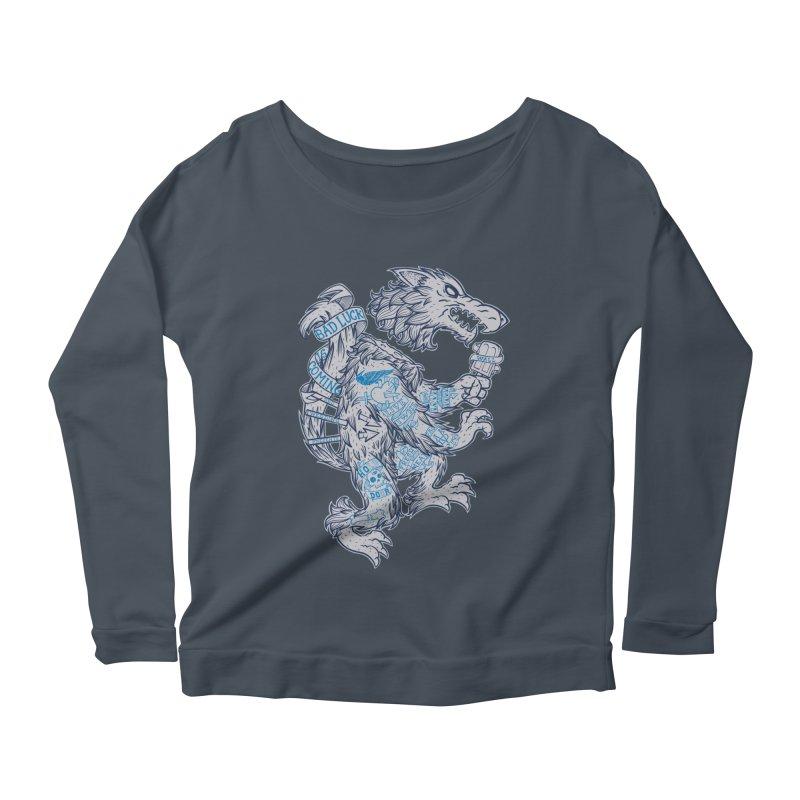 wolf spoiler crest Women's Scoop Neck Longsleeve T-Shirt by spike00