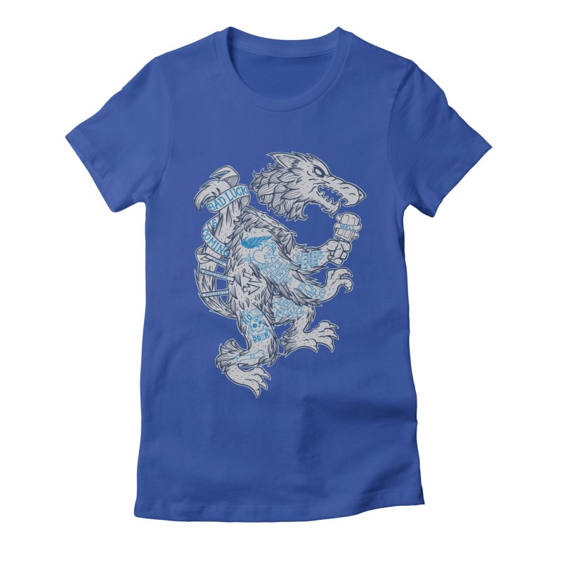 wolf spoiler crest Women's Fitted T-Shirt by spike00