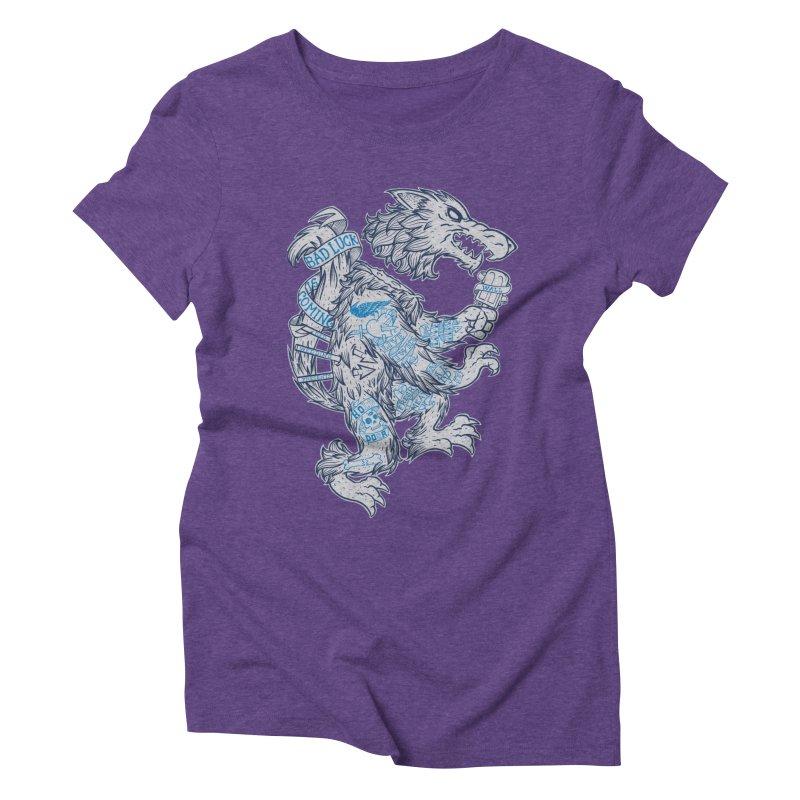 wolf spoiler crest Women's Triblend T-Shirt by spike00