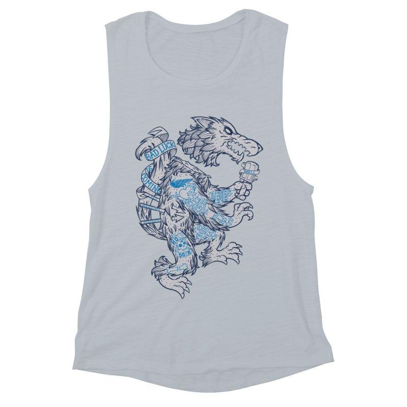 wolf spoiler crest Women's Muscle Tank by spike00