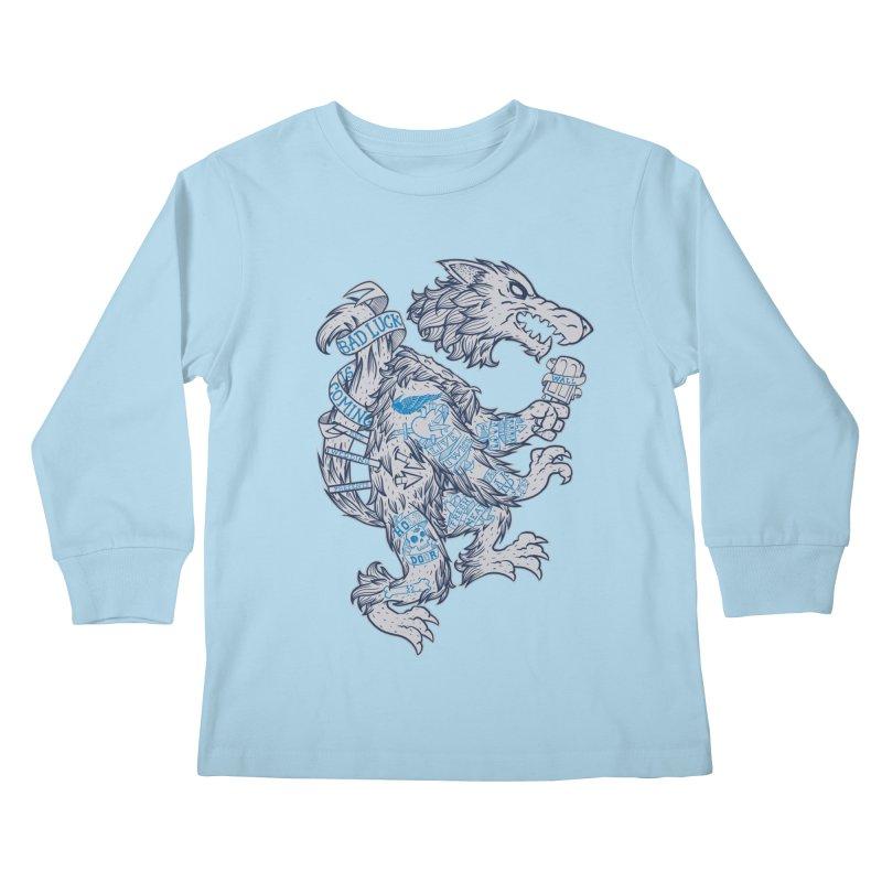 wolf spoiler crest Kids Longsleeve T-Shirt by spike00