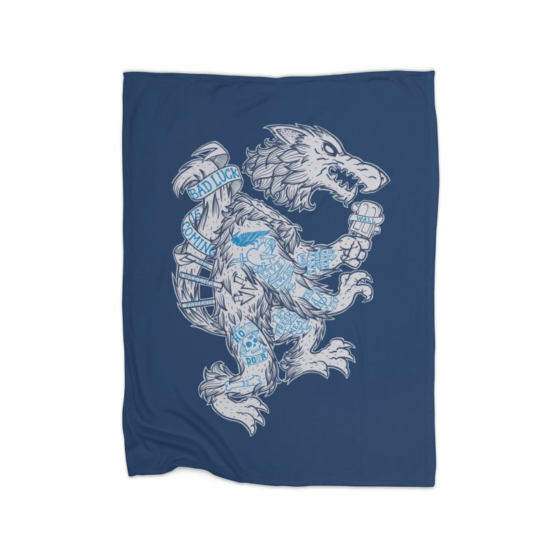 wolf spoiler crest Home Blanket by spike00