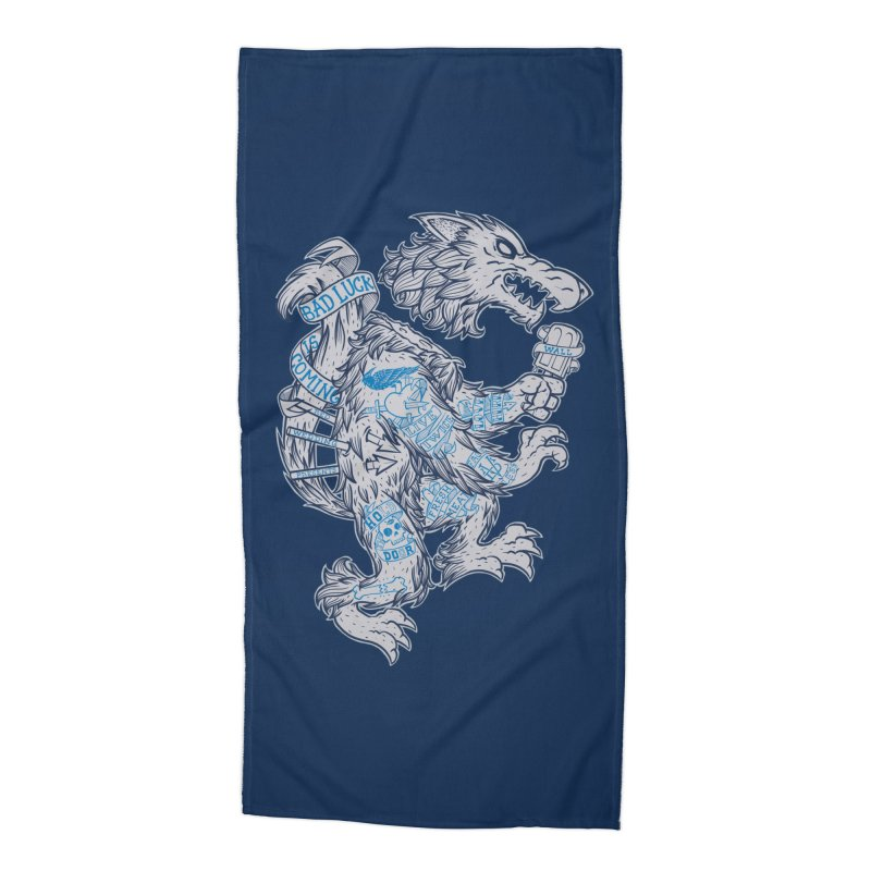 wolf spoiler crest Accessories Beach Towel by spike00