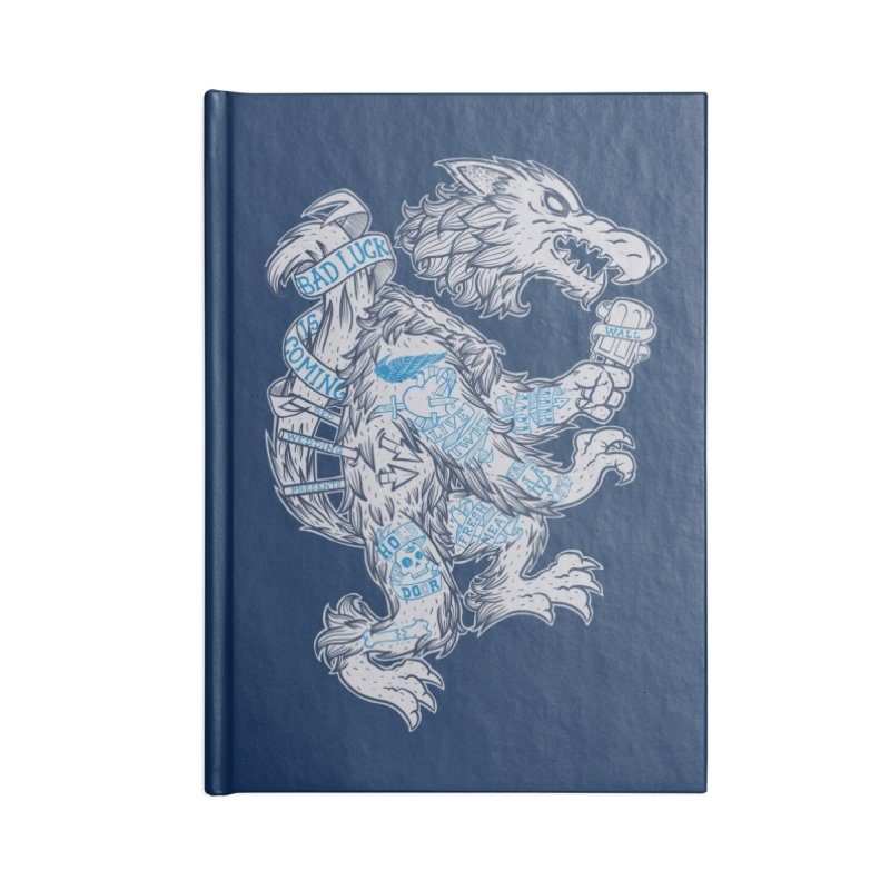 wolf spoiler crest Accessories Blank Journal Notebook by spike00