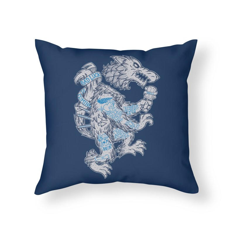 wolf spoiler crest Home Throw Pillow by spike00
