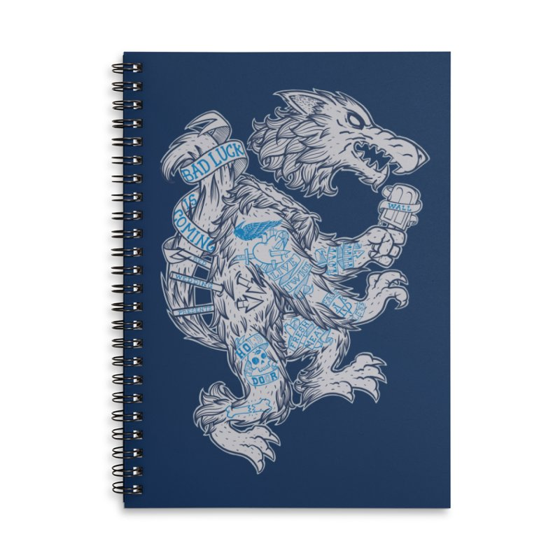 wolf spoiler crest Accessories Lined Spiral Notebook by spike00
