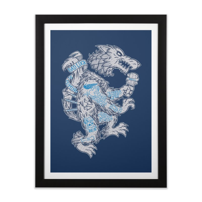 wolf spoiler crest Home Framed Fine Art Print by spike00