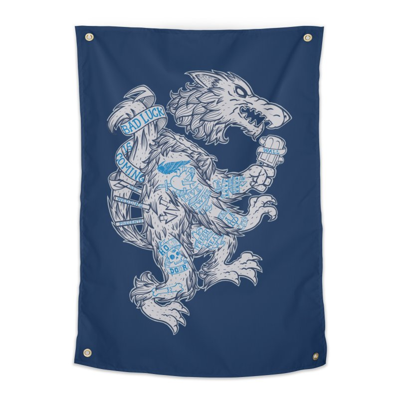 wolf spoiler crest Home Tapestry by spike00